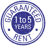Guaranteed rent 1 to 5 Years