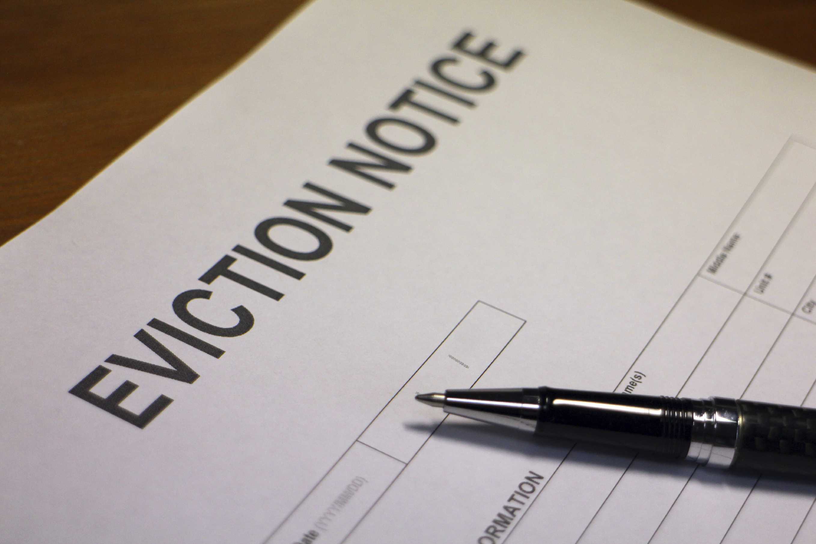 Eviction Notice Buy-to-let property