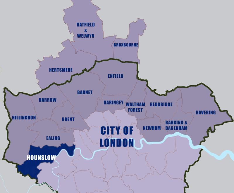 Let-to-Hounslow-Council-area-map