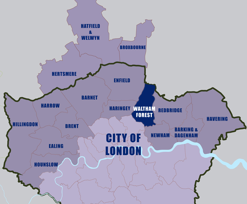 Let-to-Waltham-Forest-Council-area-map