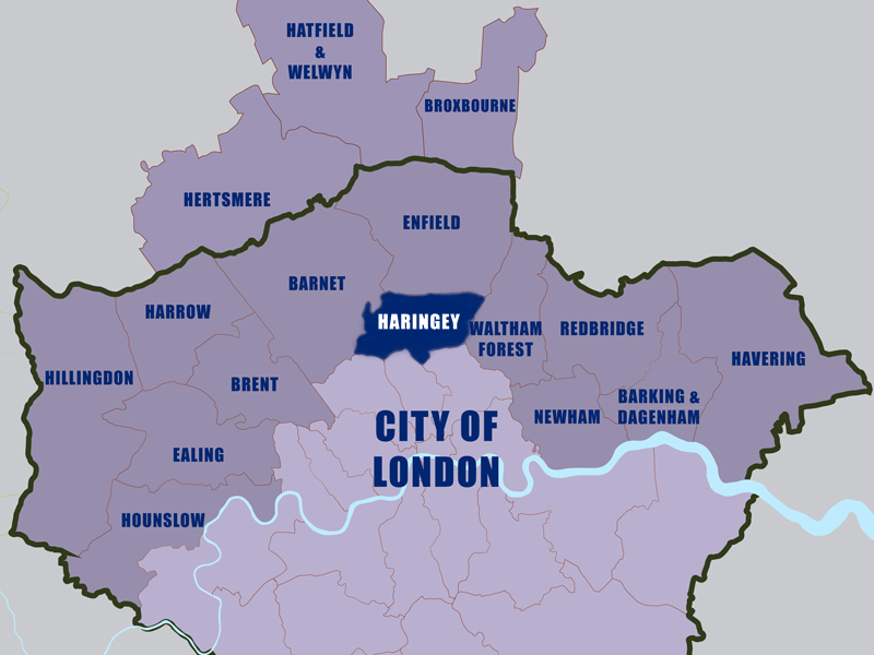 Let-to-Haringey-Council-Area-London-Map