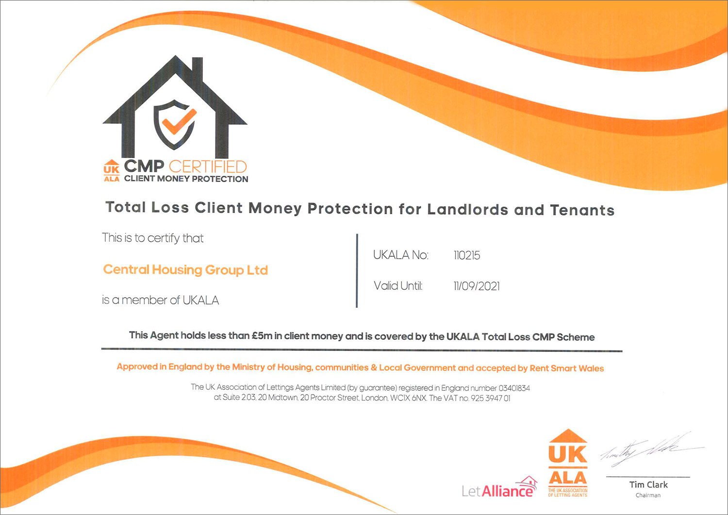Client Money Protection Central Housing Group